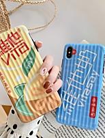 Недорогие -Кейс для Назначение Apple iPhone XS / iPhone XR / iPhone XS Max Ультратонкий / С узором Кейс на заднюю панель Продукты питания / Слова / выражения / Мультипликация ТПУ