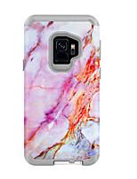Недорогие -Кейс для Назначение SSamsung Galaxy S9 / S9 Plus Защита от удара / Защита от влаги Кейс на заднюю панель Мрамор / Градиент цвета ПК