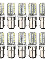 Недорогие -10 шт. 3 W LED лампы типа Корн 300 lm BA15D T 32 Светодиодные бусины SMD 2835 Новый дизайн Тёплый белый Белый 220-240 V 110-120 V