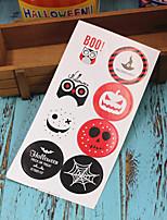 Недорогие -80 шт. Хэллоуин бумажные наклейки праздничные украшения партии печать наклейка хэллоуин поставляет 4.2 см