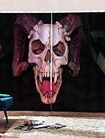 Недорогие -Уф дигталь печать партия хэллоуин тема ужасный дьявол череп фон шторы утолщение плотные шторы для дома декро