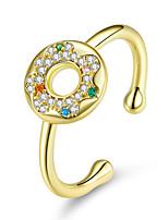 Недорогие -сладкий торт пончики круглый палец кольца для женщин свободный размер регулируемое кольцо корея мода стерлингового серебра 925 ювелирных изделий