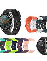 Недорогие -силиконовый спортивный замена ремешок для часов ремешок на запястье для часов Huawei GT 42 мм / 46 мм