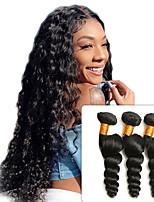 Недорогие -3 Связки Перуанские волосы Свободные волны человеческие волосы Remy 100% Remy Hair Weave Bundles Человека ткет Волосы Удлинитель Пучок волос 8-28 дюймовый Нейтральный Ткет человеческих волос
