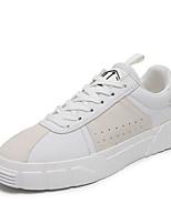 Недорогие -Муж. Комфортная обувь Полиуретан Лето Кеды Черный / Коричневый / Белый