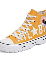 Недорогие -Муж. Комфортная обувь Полотно Весна / Осень Спортивные / На каждый день Кеды Черный / Белый / Желтый