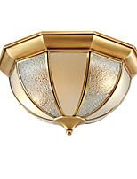 Недорогие -потолочные светильники кантри кантри люстры 2 светильника потолок круглый стеклянный плафон подвесные светильники скрытого монтажа для прихожей гостиной золотой