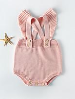 Недорогие -3 предмета малыш Девочки Активный / Уличный стиль Однотонный Открытая спина Без рукавов Bodysuit Светло-синий