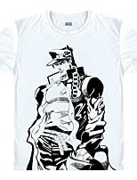 Недорогие -Вдохновлен Bizarre Adventure JoJo в JOJO Аниме Косплэй костюмы Японский Косплей футболка Футболка Назначение Муж. / Жен.