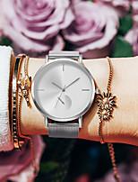 Недорогие -Жен. Кварцевые На каждый день Мода Черный Серебристый металл Нержавеющая сталь Китайский Кварцевый Черный Лиловый Розовый Защита от влаги Повседневные часы Cool 30 m 1 ед. Аналоговый / Один год