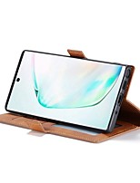 Недорогие -Кейс для Назначение SSamsung Galaxy Note 9 / Galaxy Note 10 / Galaxy Note 10 Plus Кошелек / Бумажник для карт / Защита от удара Чехол Однотонный Кожа PU