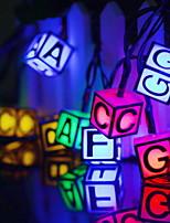 Недорогие -6 м творческий английский письмо строка огней 30 светодиодов многоцветный декоративный солнечный питание 1 компл.