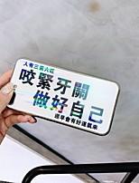Недорогие -Кейс для Назначение Apple iPhone XS / iPhone XR / iPhone XS Max Покрытие / Ультратонкий / С узором Кейс на заднюю панель Слова / выражения Закаленное стекло