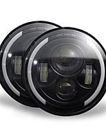 Недорогие -2 шт. 7 дюймов 200 Вт 4300 К 6000 К светодиодные фары для джип Wrangler CJ JK TJ LJ