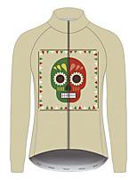 Недорогие -21Grams Сахарный череп Жен. Длинный рукав Велокофты - титан Велоспорт Джерси Верхняя часть Устойчивость к УФ Дышащий Влагоотводящие Виды спорта 100% полиэстер Горные велосипеды Шоссейные велосипеды