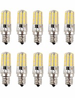 Недорогие -10 шт. 3 W LED лампы типа Корн 170-200 lm E14 72 Светодиодные бусины SMD 3014 Новый дизайн Декоративная Милый Тёплый белый Холодный белый 12-24 V