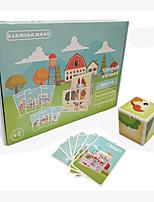 Недорогие -Деревянные пазлы Головоломка Куб Деревянные блоки профессиональный уровень Простой Новый дизайн ABS смолы 8 pcs Детские Все Игрушки Подарок