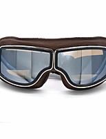 Недорогие -кожа винтажные очки скутер пилот лыжные солнцезащитные очки шлем очки оправа цвета коричневого цвета линзы colorsilver