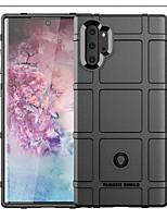 Недорогие -Кейс для Назначение SSamsung Galaxy Note 9 / Note 8 / Galaxy Note 10 Защита от удара Кейс на заднюю панель Однотонный / Геометрический рисунок ТПУ