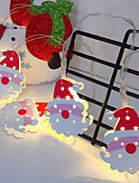 Недорогие -2м Гирлянды 10 светодиоды Тёплый белый Декоративная 5 V 1 комплект