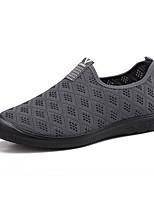 Недорогие -Муж. Комфортная обувь Полиуретан Лето Мокасины и Свитер Черный / Темно-синий / Серый