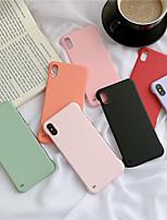 Недорогие -чехол для apple iphone xs / iphone xr / iphone xs max пылезащитный / imd задняя крышка сплошной цветной ПК для iphone 6 / 6s / 6plus / 7/8 / 7plus / 8plus / x / xs / xr / xs max