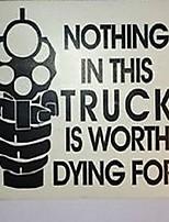 Недорогие -уникальные модные буквы дизайн автомобиля наклейки предупреждающие наклейки