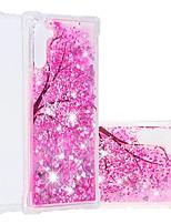 Недорогие -чехол для samsung galaxy note 9 / примечание 8 / galaxy note 10 противоударный / плавная жидкость / прозрачная задняя крышка цветок / блестящий блеск тпу мягкий для samsung galaxy note 10 plus