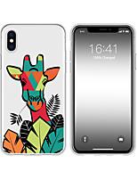 Недорогие -чехол для iphone x xs max xr xs задняя крышка мягкий чехол тпу творческий узор жираф мягкий тпу для iphone5 5s se 6 6p 6s sp 7 7p 8 8p16 * 8 * 1
