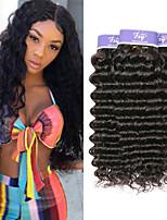 Недорогие -3 Связки Бразильские волосы Глубокий курчавый Не подвергавшиеся окрашиванию 100% Remy Hair Weave Bundles Человека ткет Волосы Удлинитель Пучок волос 8-28 дюймовый Нейтральный Ткет человеческих волос