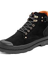 Недорогие -Муж. Fashion Boots Полиуретан Осень / Наступила зима Классика / На каждый день Ботинки Ботинки Черный / Серый / Хаки