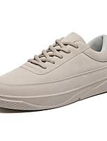 Недорогие -Муж. Комфортная обувь Полиуретан Осень На каждый день Кеды Нескользкий Черный / Бежевый / Серый