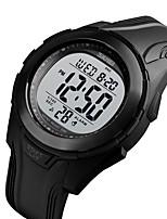 Недорогие -SKMEI Муж. электронные часы Цифровой силиконовый Черный 50 m Защита от влаги Календарь Хронометр Цифровой На открытом воздухе Новое поступление - Черный Черно-белый Стальной