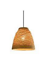 Недорогие -Wrattan тканые подвесные светильники одного пляжа подвесные светильники ручной работы подвесное освещение для бара столовой ресторан