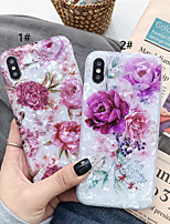 Недорогие -чехол для яблока iphone xs / iphone xr / iphone xs max шаблон задней обложки цветок ТПУ для iphone 6 6 плюс 6 с 6 с плюс 7 8 7 плюс 8 плюс х сс