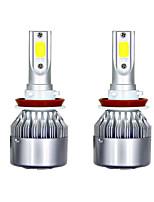 Недорогие -1 пара светодиодных фар h11 c6 3800lm / лампа 6000k ближнего света, спрятанная белая