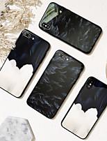 Недорогие -Кейс для Назначение Apple iPhone XS / iPhone XR / iPhone XS Max Зеркальная поверхность / Ультратонкий / С узором Кейс на заднюю панель Перья ТПУ