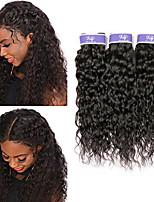 Недорогие -3 Связки Малазийские волосы Волнистые Не подвергавшиеся окрашиванию Необработанные натуральные волосы Человека ткет Волосы Удлинитель Пучок волос 8-28 дюймовый Нейтральный Ткет человеческих волос