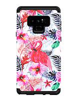 Недорогие -Кейс для Назначение SSamsung Galaxy Note 9 / Note 8 Защита от удара Кейс на заднюю панель Животное / Цветы ТПУ / ПК
