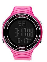 Недорогие -Мальчики электронные часы Цифровой Спортивные Стильные Кожа Черный / Белый / Красный 30 m Защита от влаги Фосфоресцирующий Повседневные часы Цифровой На каждый день Мода - Черный Зеленый Белый