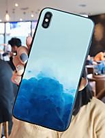 Недорогие -Кейс для Назначение Apple iPhone XS / iPhone XR / iPhone XS Max Зеркальная поверхность / Ультратонкий / С узором Кейс на заднюю панель Пейзаж ТПУ