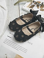 Недорогие -Девочки Детская праздничная обувь Полотно На плокой подошве Маленькие дети (4-7 лет) Бант Белый / Черный / Розовый Лето