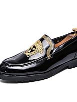 Недорогие -Муж. Комфортная обувь Полиуретан Лето Мокасины и Свитер Дышащий Черный / Золотой
