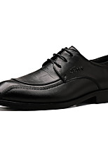 cheap -Men's Formal Shoes Nappa Leather Spring / Fall & Winter Casual / British Oxfords Non-slipping Black