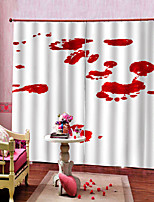 Недорогие -шторы готовые уф-дигтал печать утолщение затемнения пользовательские ткани для штор спальня / гостиная / бар занавес