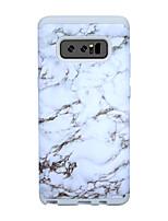 Недорогие -Кейс для Назначение SSamsung Galaxy Note 8 Защита от удара / Защита от влаги Кейс на заднюю панель Полосы / волосы / Мрамор ПК