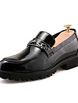 Недорогие -Муж. Комфортная обувь Полиуретан Лето На каждый день Мокасины и Свитер Нескользкий Черный / Красный / Синий