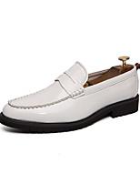Недорогие -Муж. Кожаные ботинки Наппа Leather Весна лето Мокасины и Свитер Черный / Белое / серебро