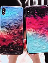 Недорогие -Кейс для Назначение Apple iPhone XS / iPhone XR / iPhone XS Max Ультратонкий / С узором Кейс на заднюю панель Градиент цвета ТПУ