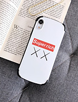 Недорогие -Кейс для Назначение Apple iPhone XS / iPhone XR / iPhone XS Max Защита от удара / IMD / С узором Кейс на заднюю панель Слова / выражения силикагель